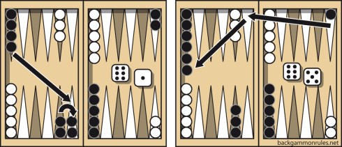 Backgammon mixed roll